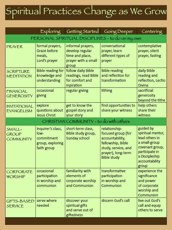 Journey of Discipleship Web Chart