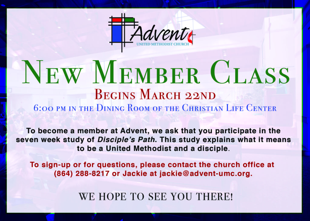 New Member Class - A Disciple's Path @ Dining Room of Christian Life Center