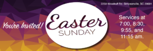 Easter Sunday Services @ Advent United Methodist Church