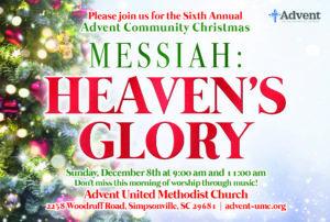 Advent Community Christmas 9 am @ Advent United Methodist Church