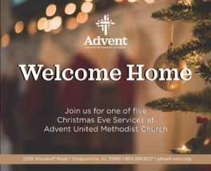 "Christmas Eve ""Eve"" Candlelight Communion @ Advent United Methodist Church"